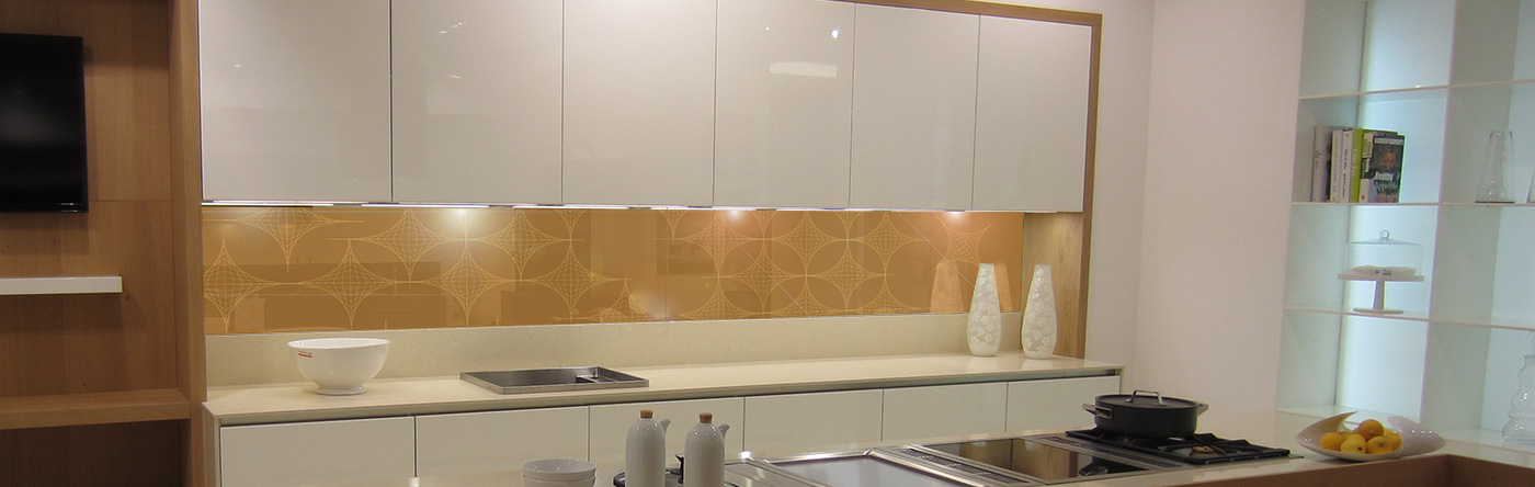 Geometric Bespoke Glass Splashbacks Glartique