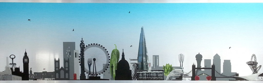 London Skyline with a Twist