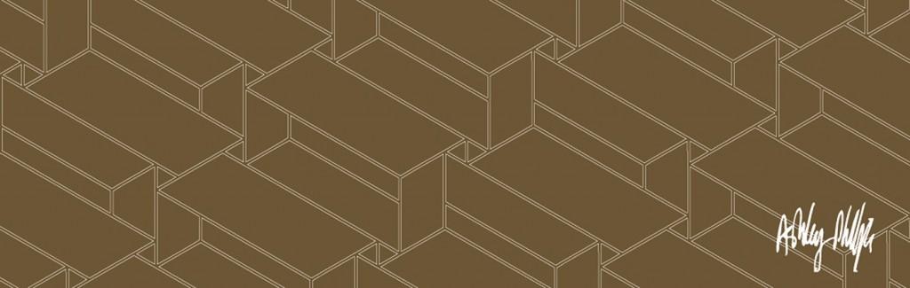 Structural-constellation-solid brown white lines Glass Splashback