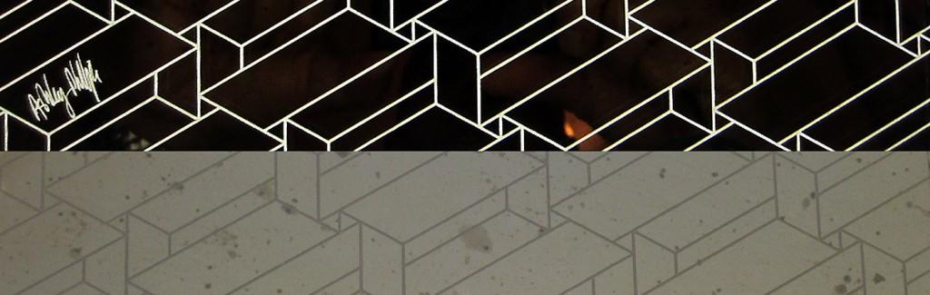 Structural constellation laser mirror lit & un-lit Glass Splashback