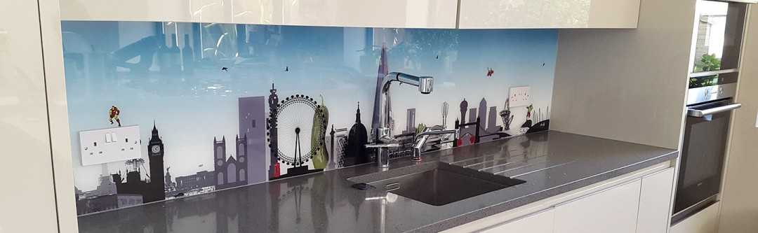 London with a Twist + Avengers Kitchen Splashback