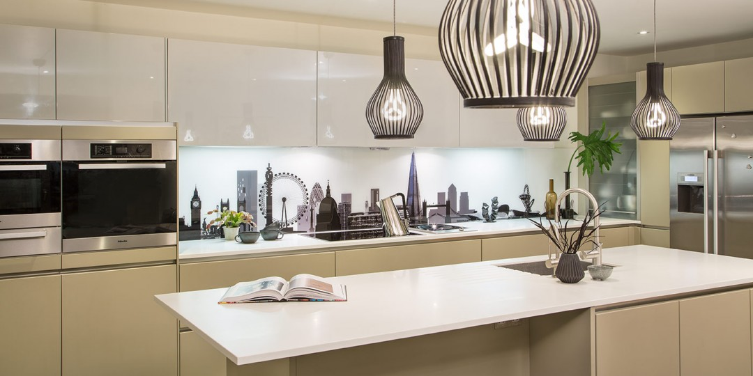 Extra long London Skyline Kitchen Splashback