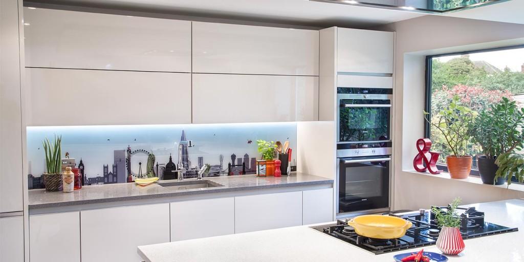 London with a twist bespoke kitchen splashback