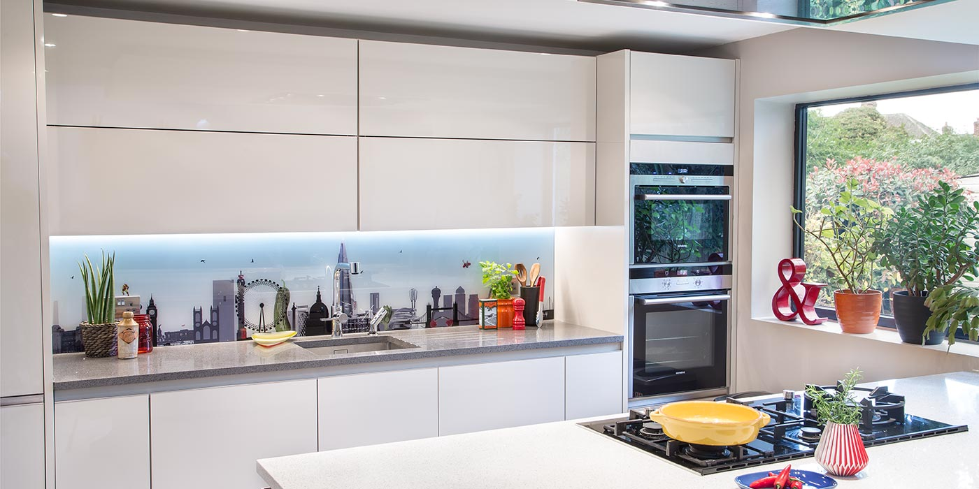 Glartique-London-Skyline-with-a-Twist-Superheroes-bespoke-glass-kitchen-printed-splashback-1