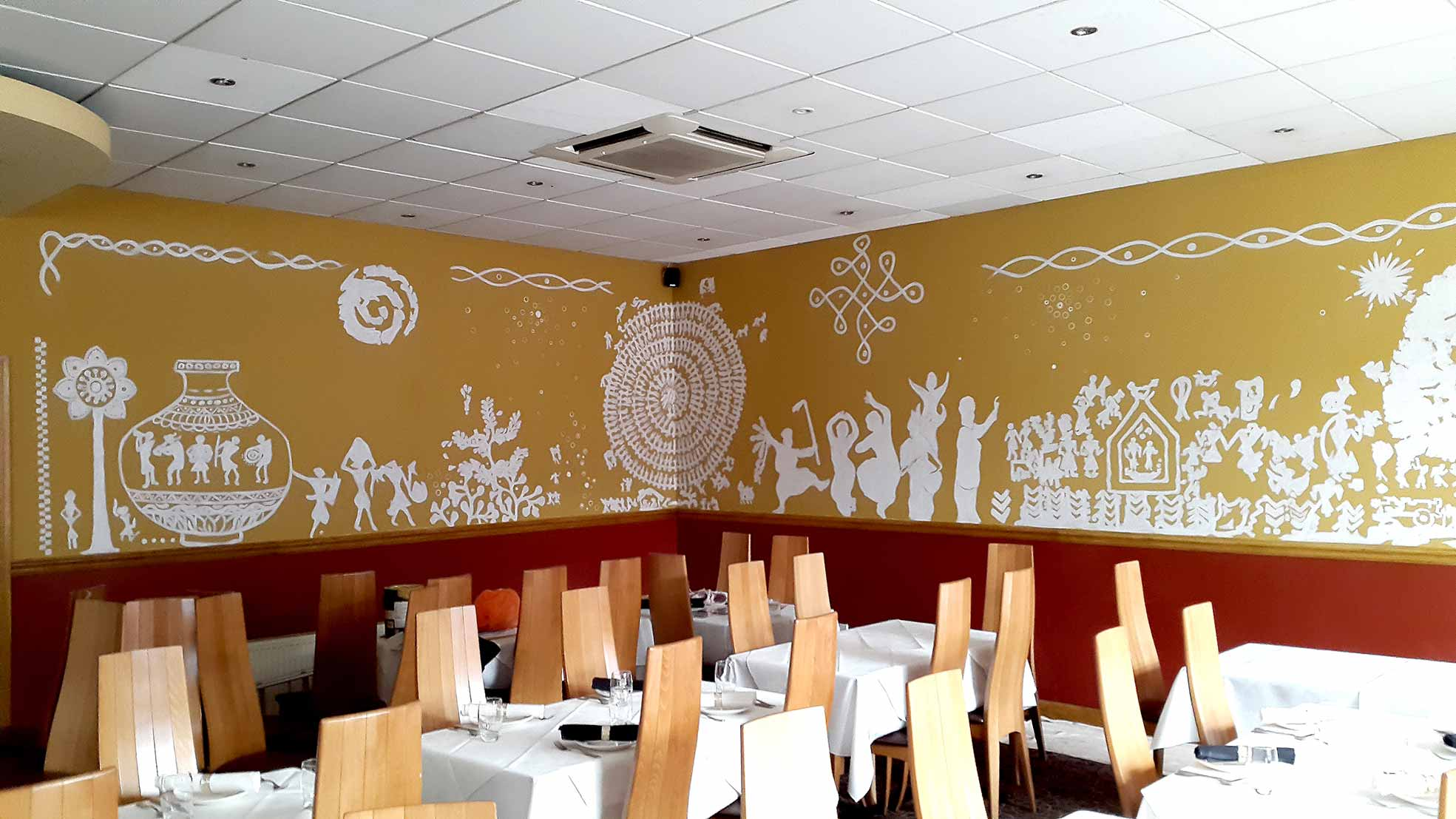 Murals and public art glartique for Cafe wall mural
