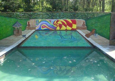 Ashley-Phillips-swimming-pool-optical illusion mural