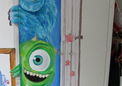 monster-inc-mural in Childrens room by Ashley Phillips