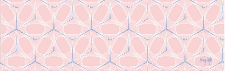 Geometric bespoke kitchen splashback