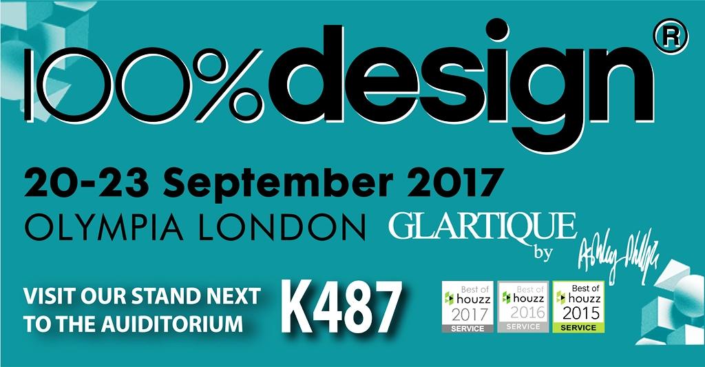Glartique at 100% Design Show 2017 stand K487